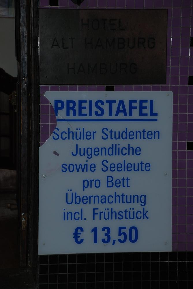 """Ingrid - """"Schüler Studenten Jugendliche sowie Seeleute"""" (Fliese, Schild)"""